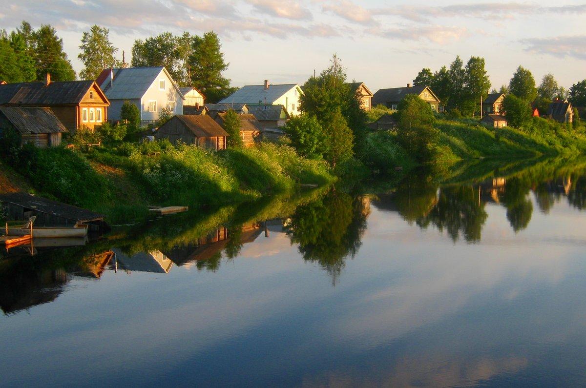 Картинки речка в деревне