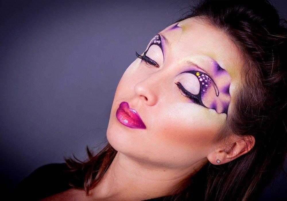 макияж с узорами фото вот открытия