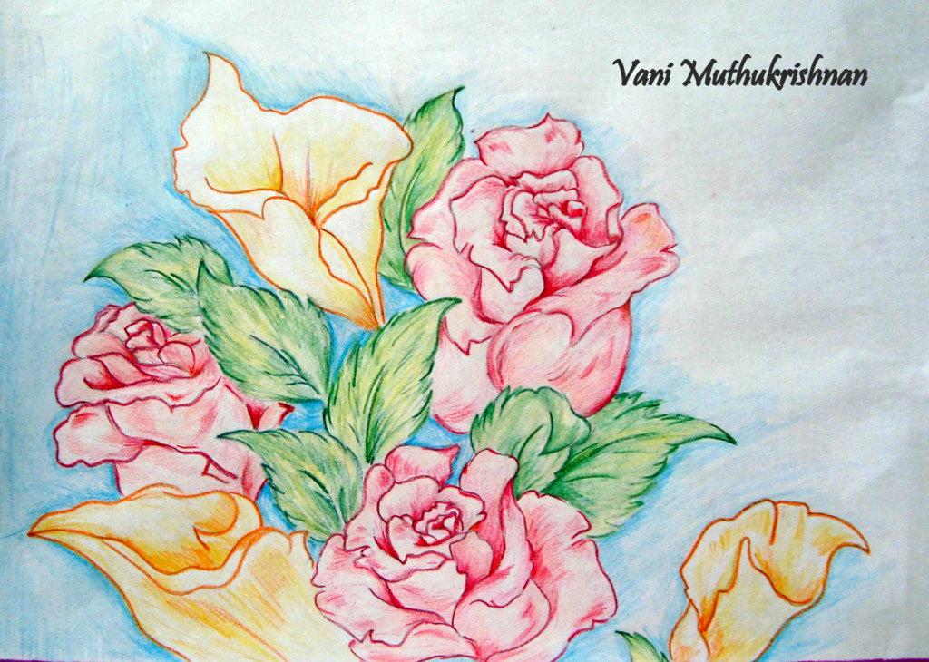 Рисунки цветов карандашом на открытку ваш аккаунт