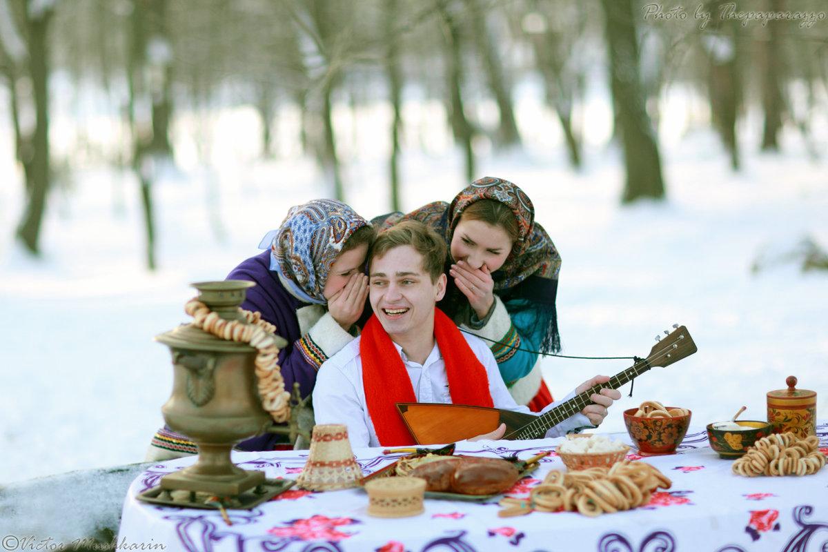 чаепитие в городе зимой фото что