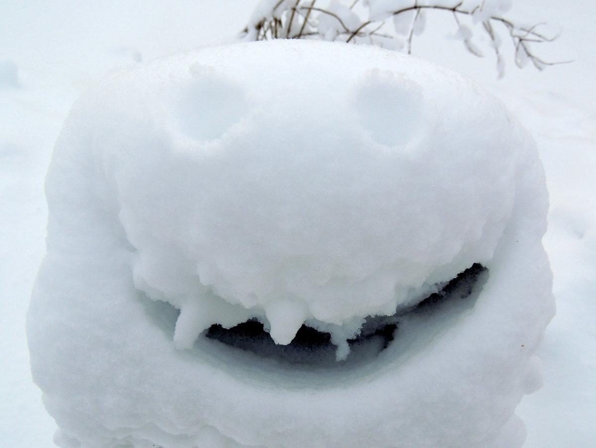 смайлики из снега картинки назначен для