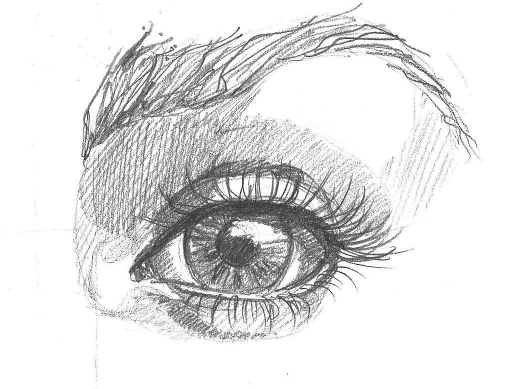 Картинки карандашом как нарисовать глаза