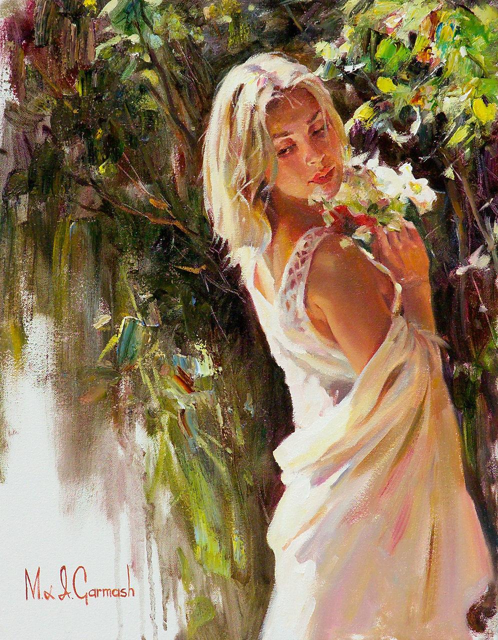 Живописные картинки женщин