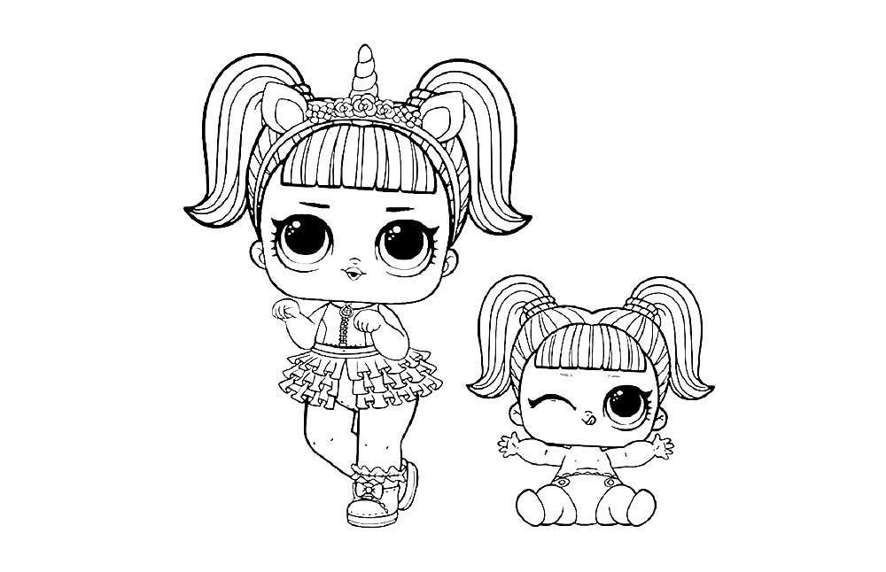 «Раскраски куклы ЛОЛ Конфетти Поп (3 серия) скачать и ...