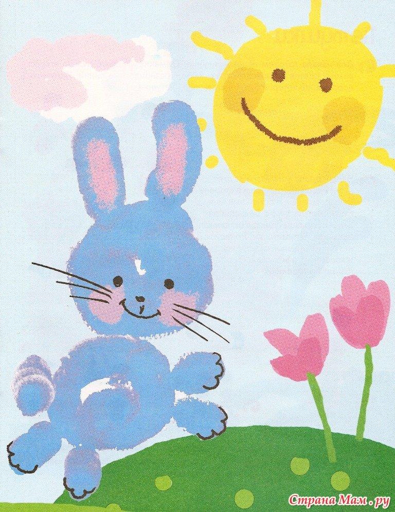 Открытки, веселый рисунок красками с ребенком 4 года