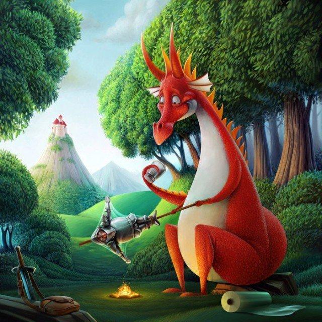 Любовь, смешные дракон картинки
