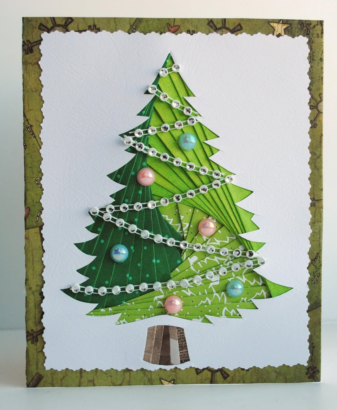 Открытки новогодние елочки, открытки днем