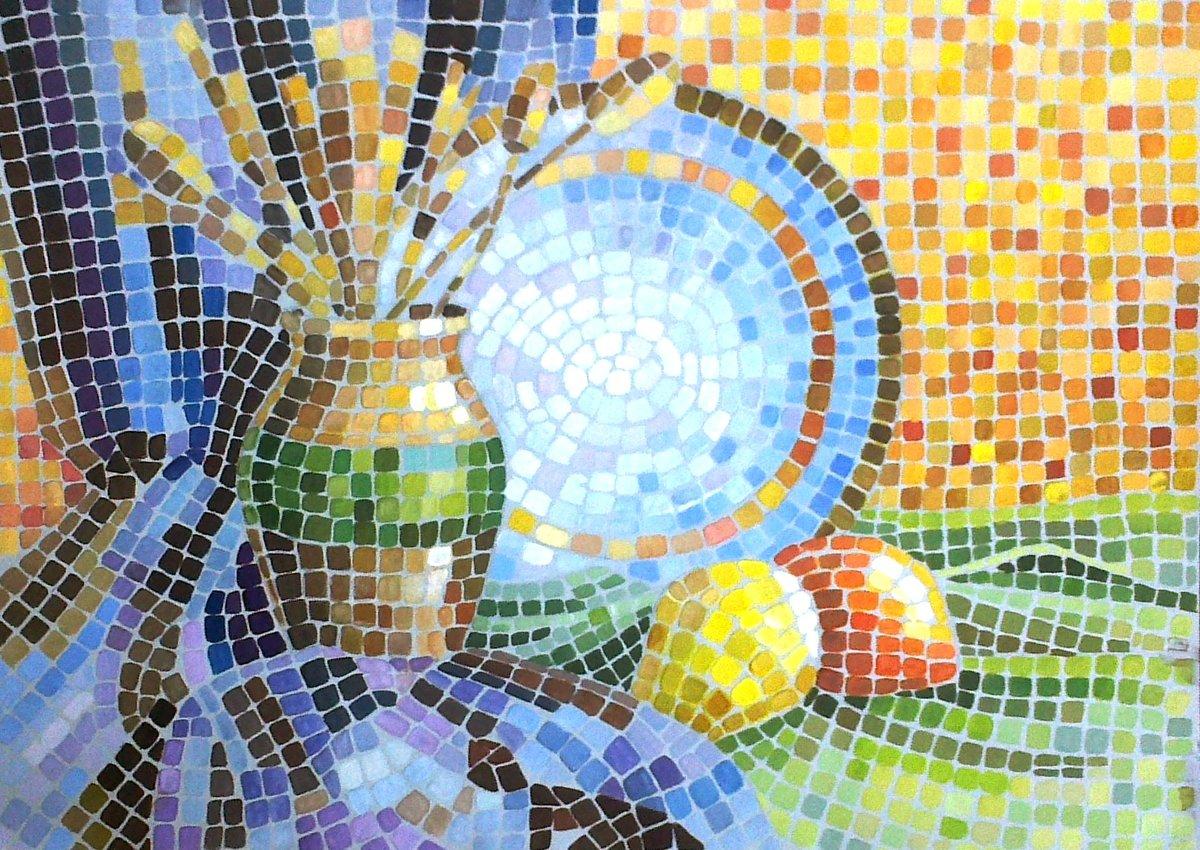 карточки, картинки для умной мозаики окно скосом