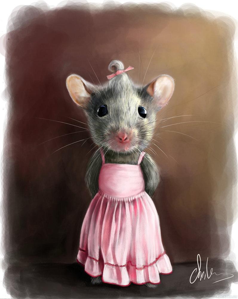Картинка прикольных мышек