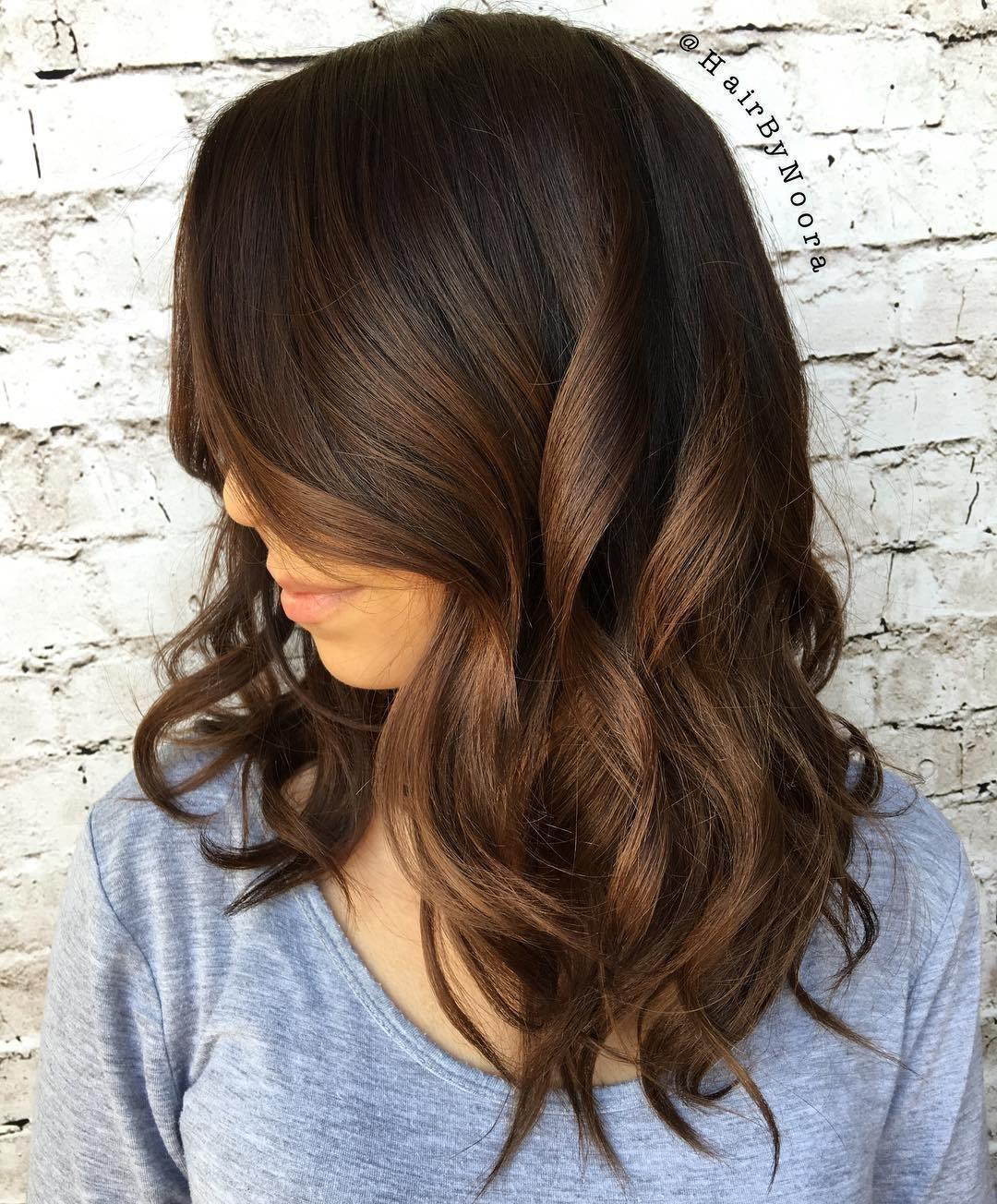 посчастливилось фото покраска коричневых волос работы сочетают элегантность
