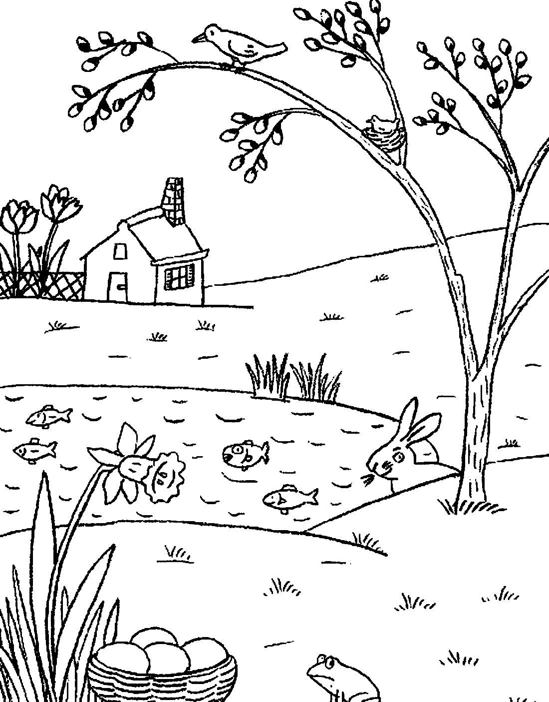 картинки о весне раскрашивать шок-манже подошел