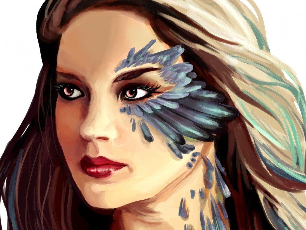 Арт картинки лица девушки
