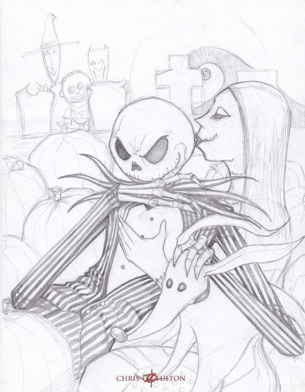 Jack Skellington And Sally Drawings Www Imgarcade Com Online Image