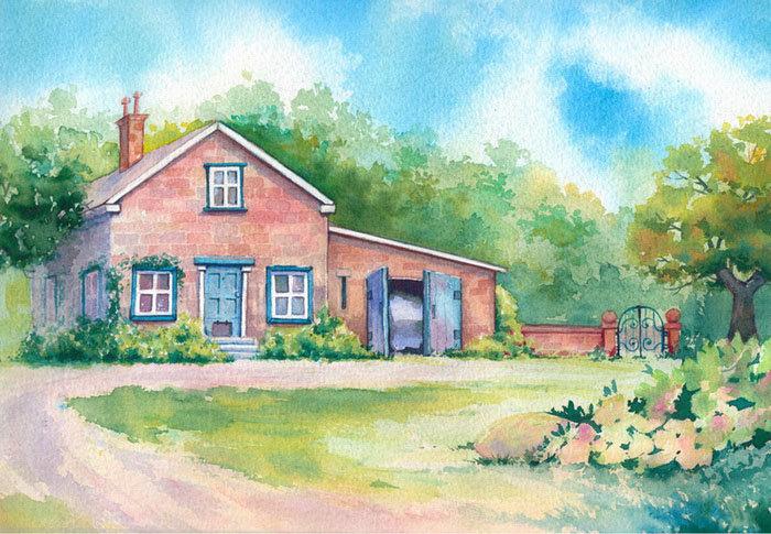 картинки как нарисовать дом гуашью