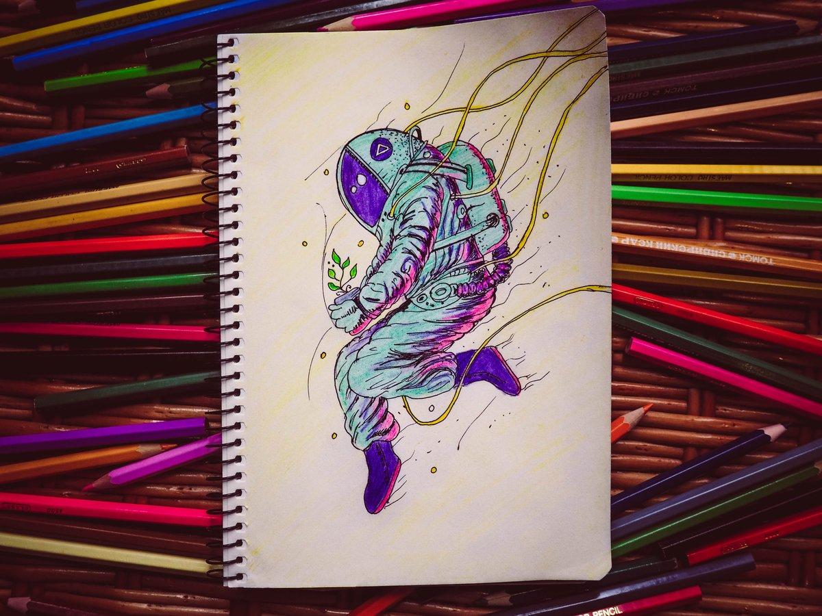 Крутые рисунки цветными ручками, открытка своими