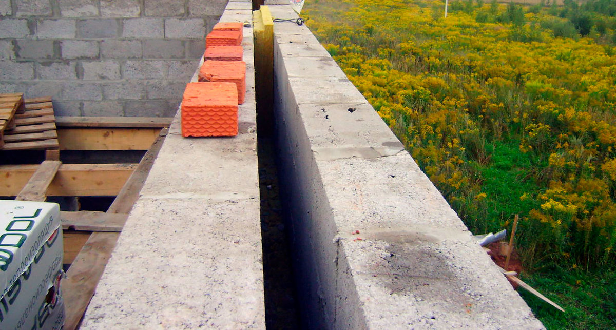 укладка керамзитовых блоков