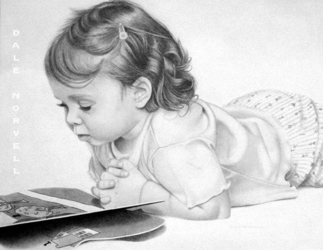 Ребенок в картинках карандашом