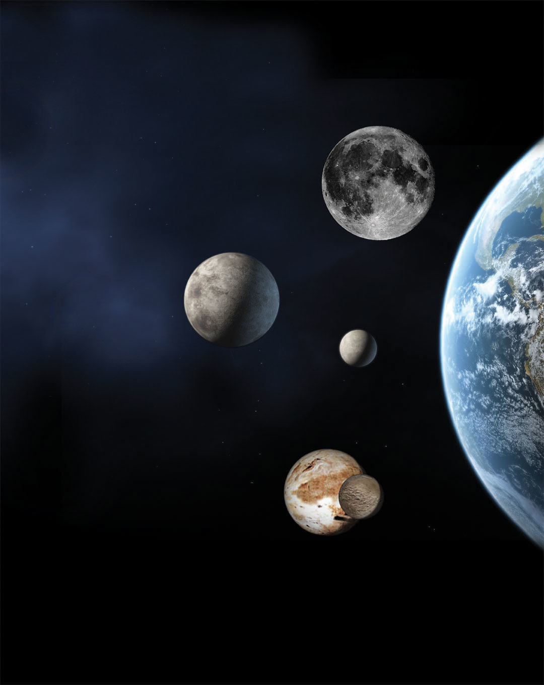 dwarf planets in our solar system - HD 1080×1359