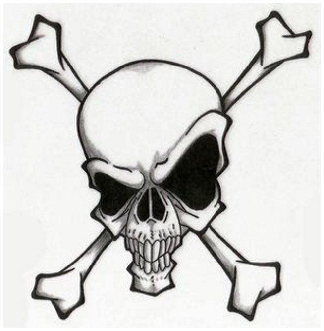 simple skull tattoo - 654×667