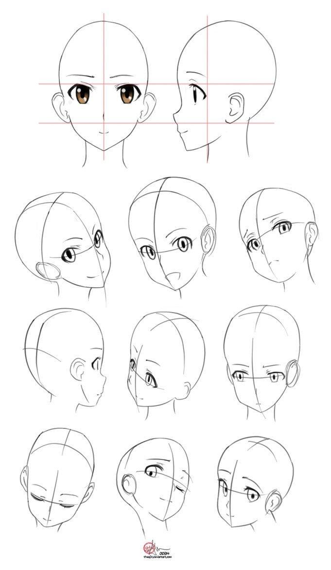 Картинки построения аниме