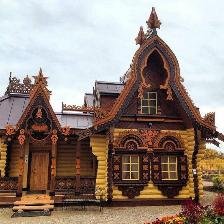 что фото русских домов из дерева что