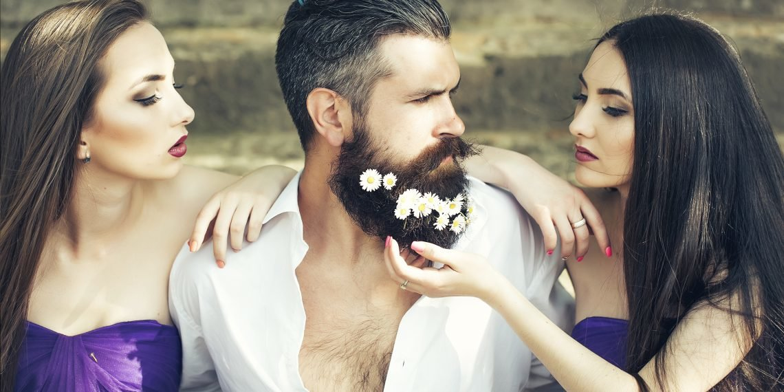 Картинка девушка и мужчина с бородой