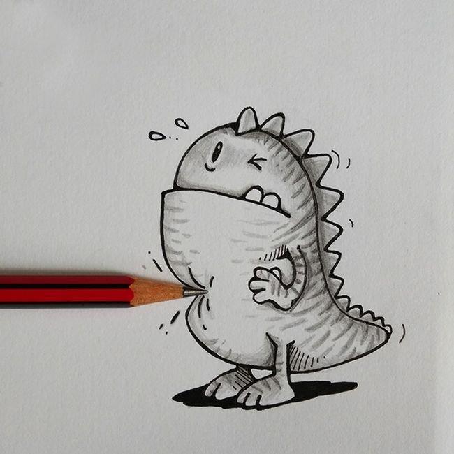 Как нарисовать прикольный рисунок карандашами