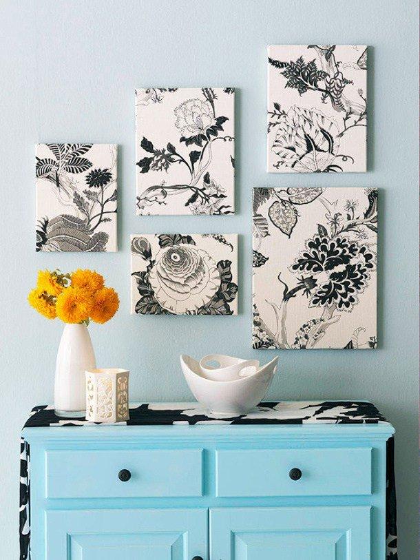 Картинки из ткани на стену