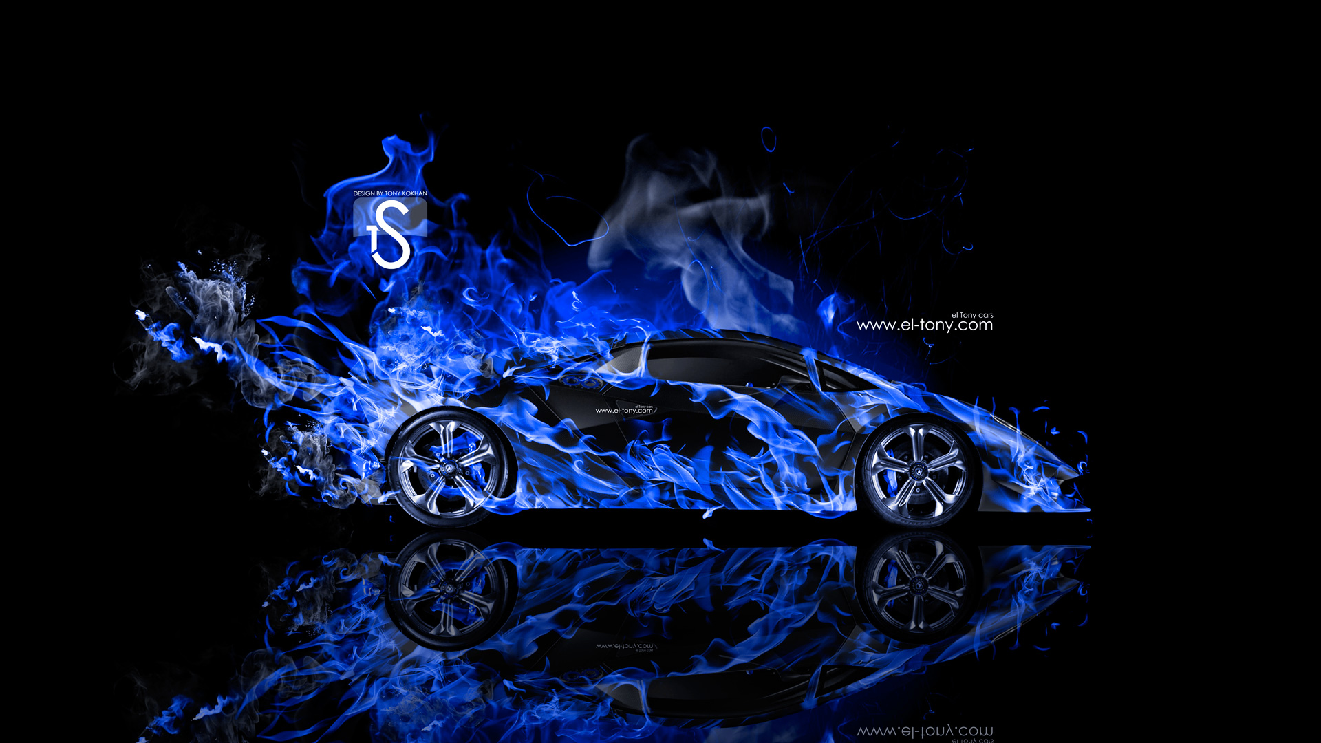Lamborghini Sesto Elemento Blue Fire Abstract Car 2014 HD Wallpapers ...