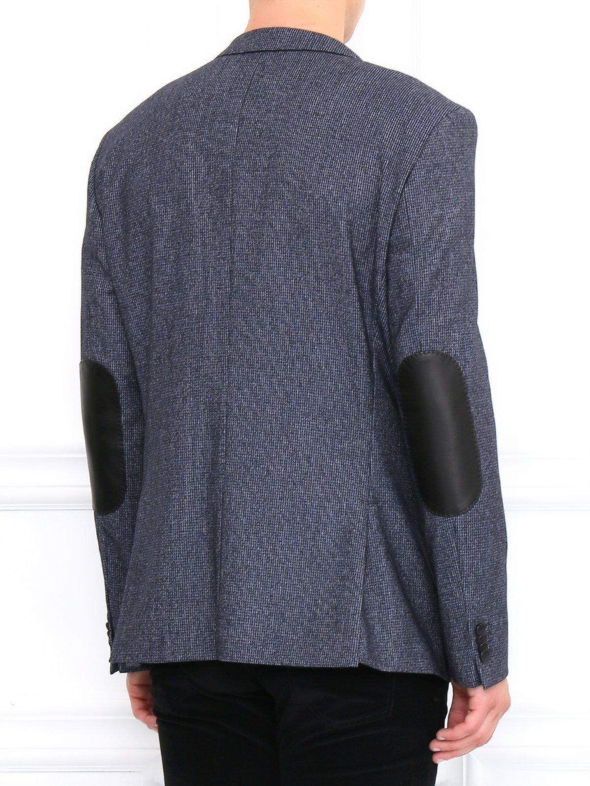 Hugo Boss  синий однобортный пиджак с заплатками на локтях ... 3f5d5a65a41