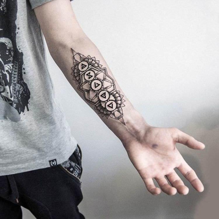 Татуировка на руке для мужчин картинки