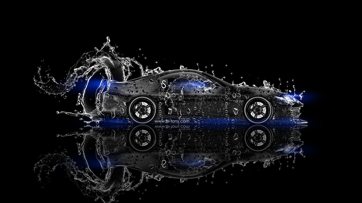 Perfect Toyota Supra JDM Water Car 2013 Blue Neon