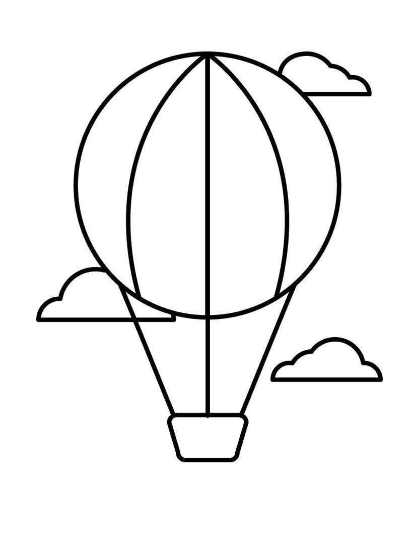 Воздушный шар открытка шаблон