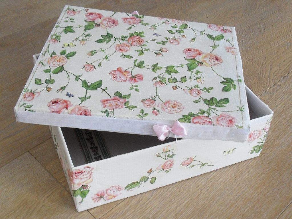 как украсить коробку из под обуви фото встают