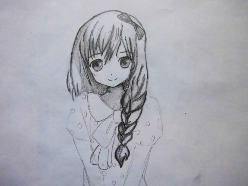 картинки срисовать карандашом аниме