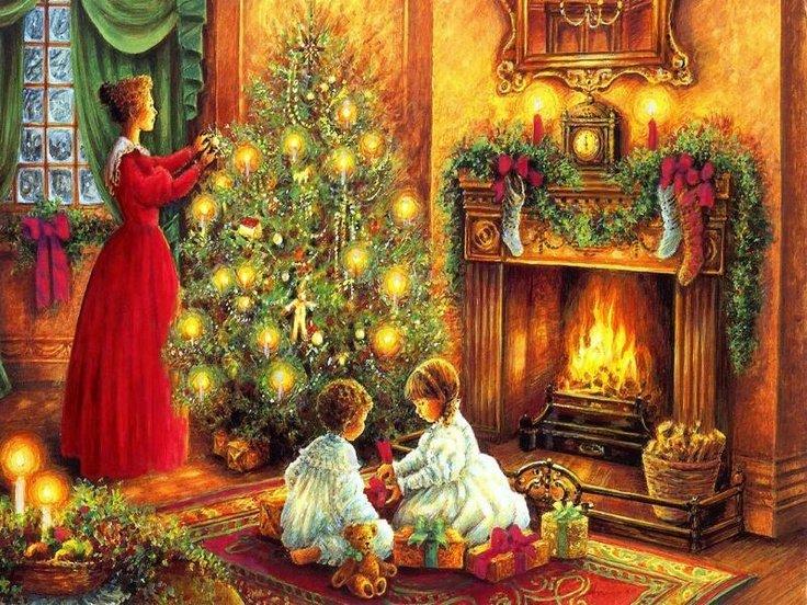 Для зрелого, картинки на рождество и новый год сказочные