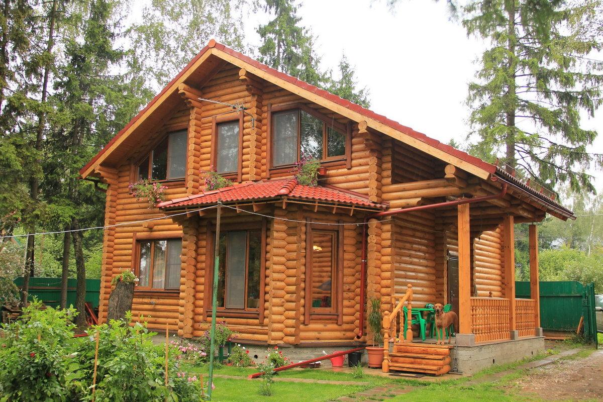 Дома с бревна ижевск фото