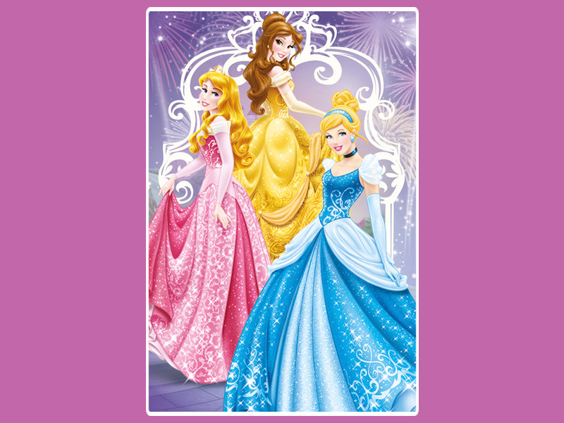 Днем рождения, открытки принцессами