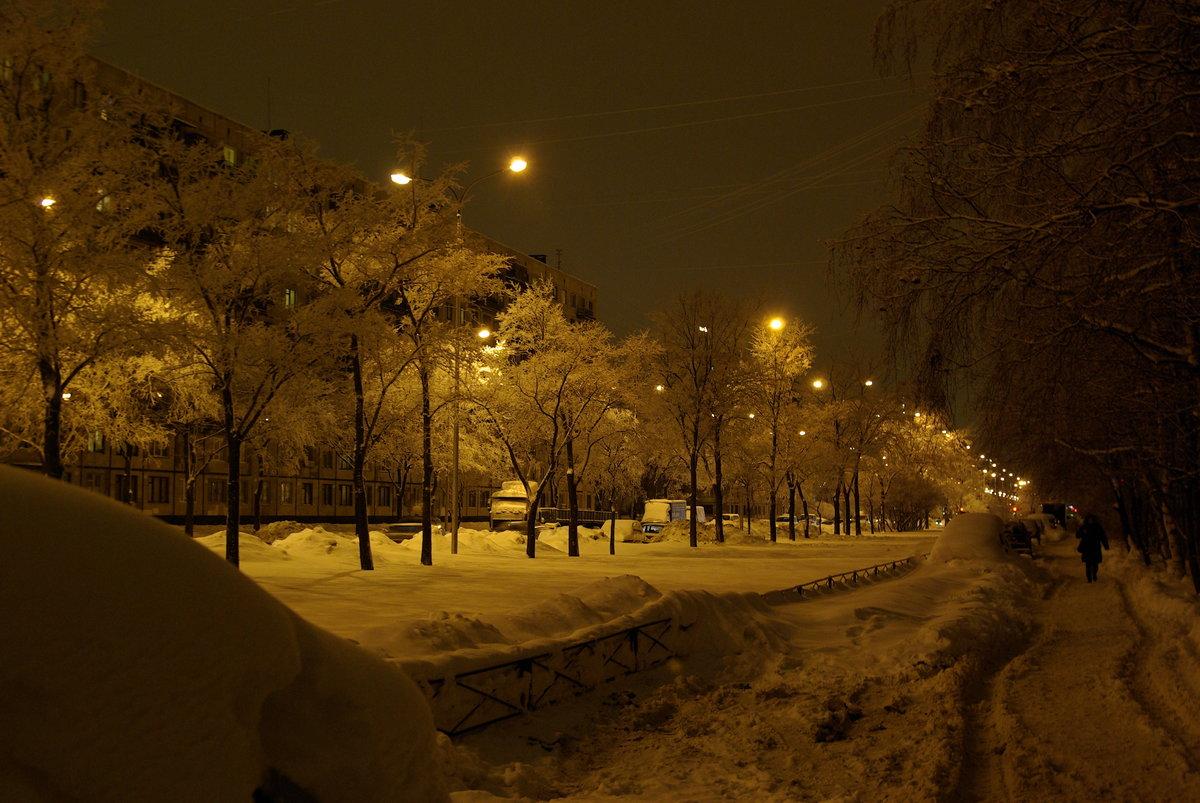 Картинки зима в городе вечереет