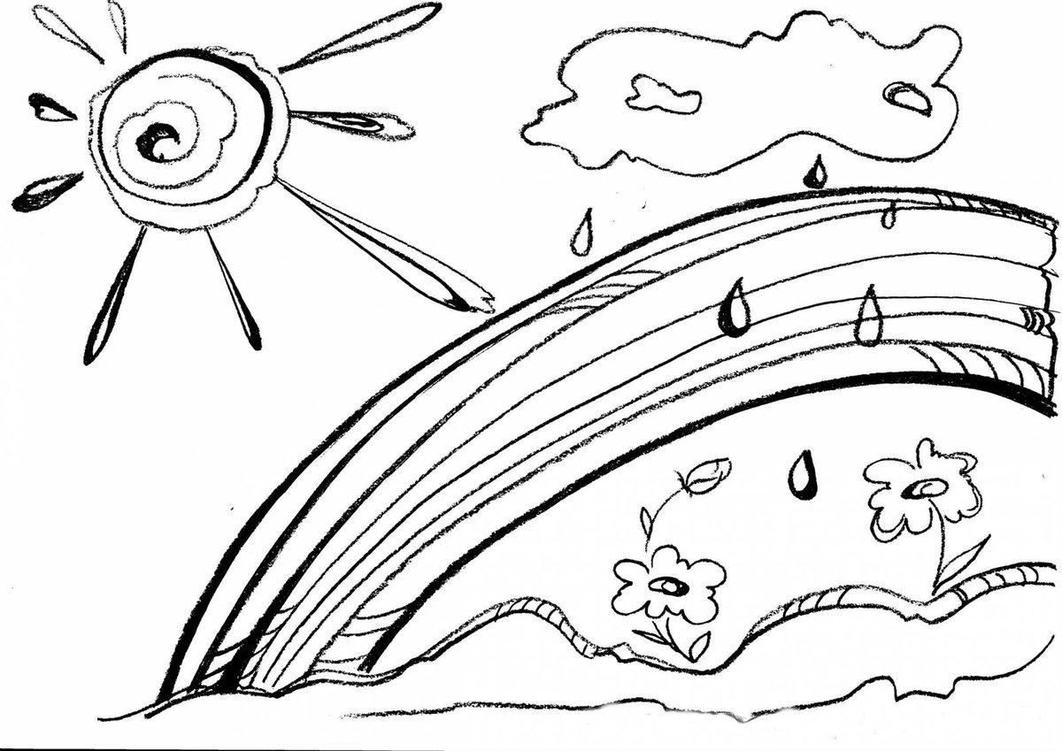 солнечный день рисунок карандашом название штата