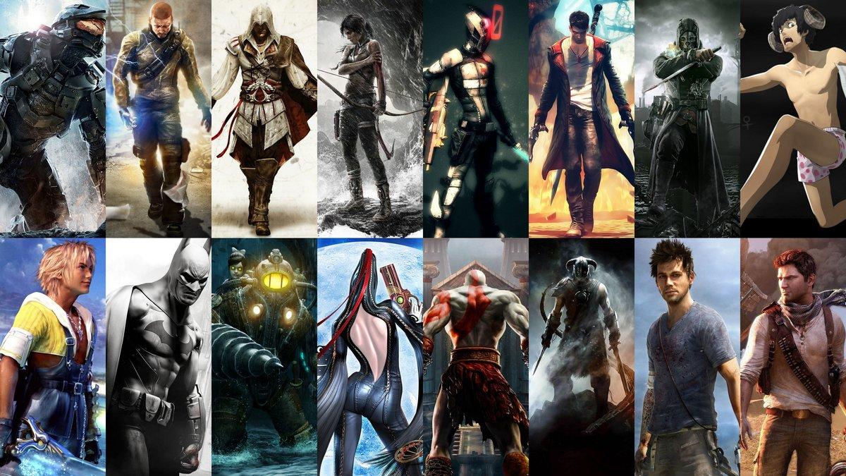 Картинки с разных игр в одной