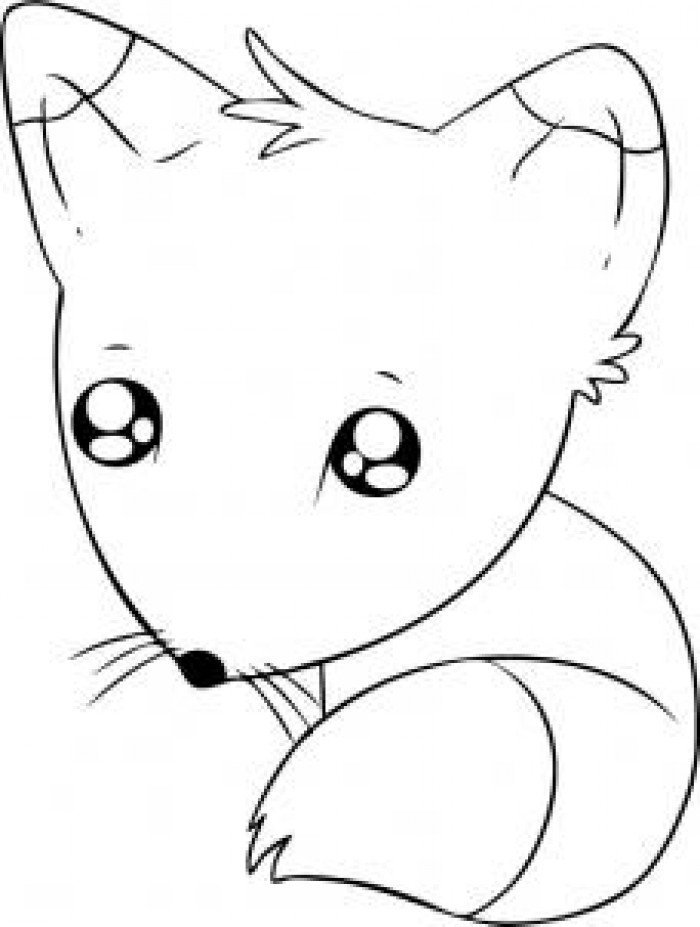 Рисуем аниме животных карандашом поэтапно картинки