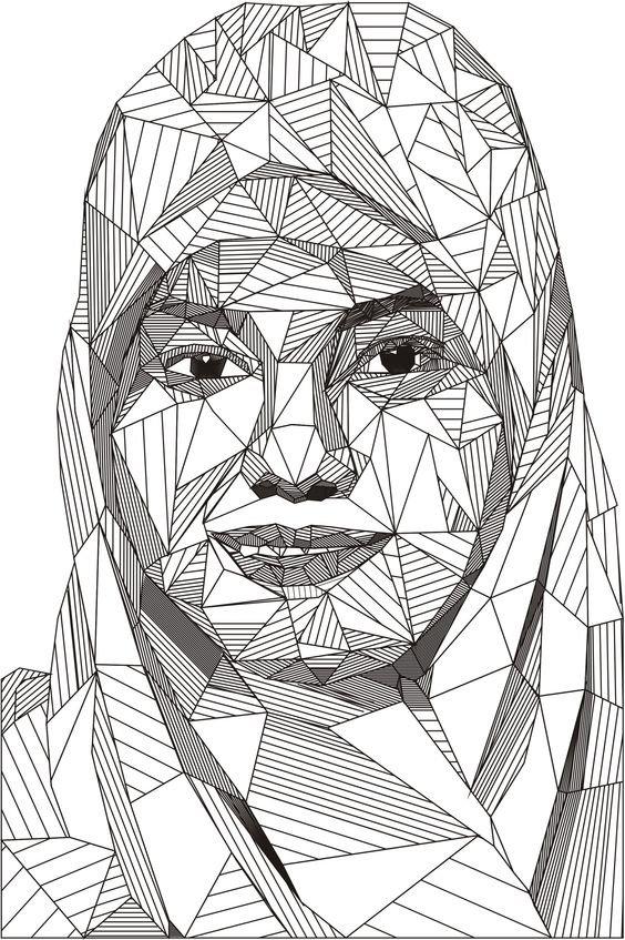Картинки из треугольников для подростков современные, открытки