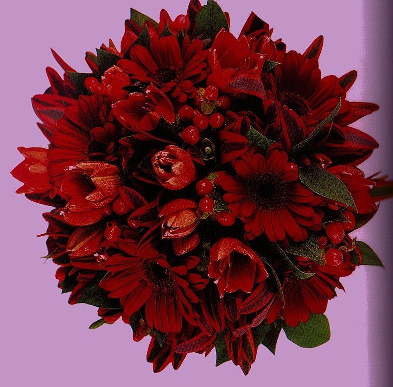 Букеты, букет из красных хризантем