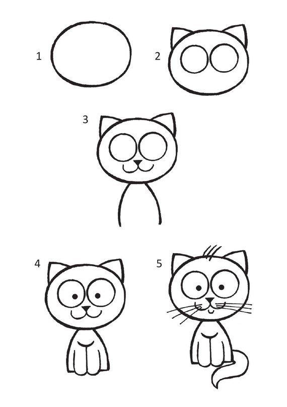 Свои, картинки для детей рисовать с 9 лет