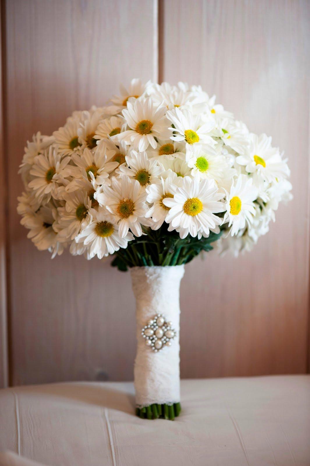 Роз, свадебные букеты ромашек