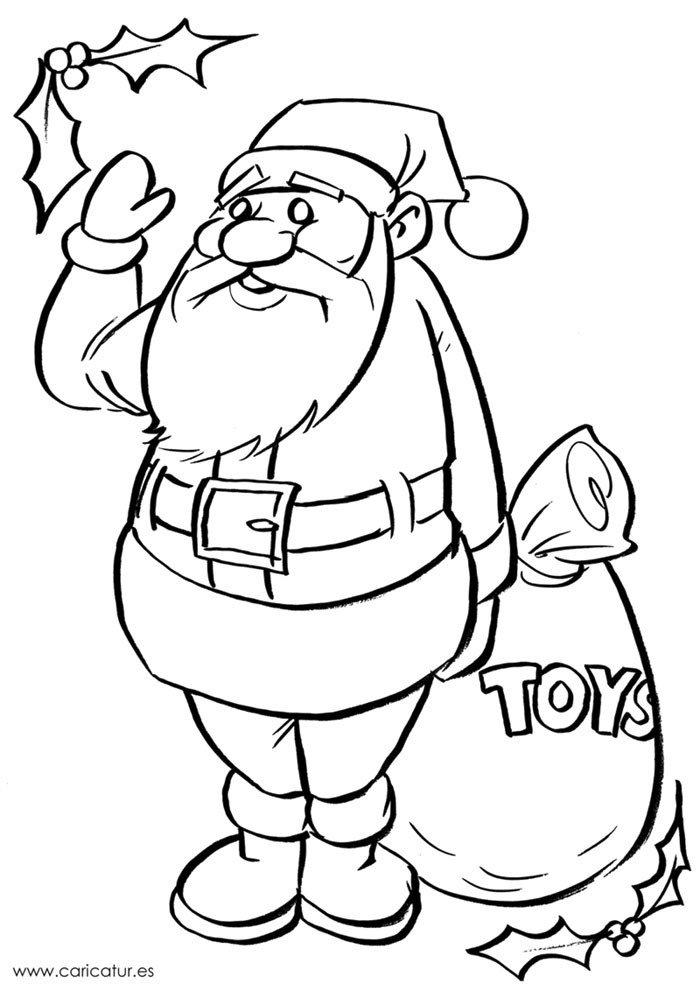 Санта клаус рисунки для срисовки