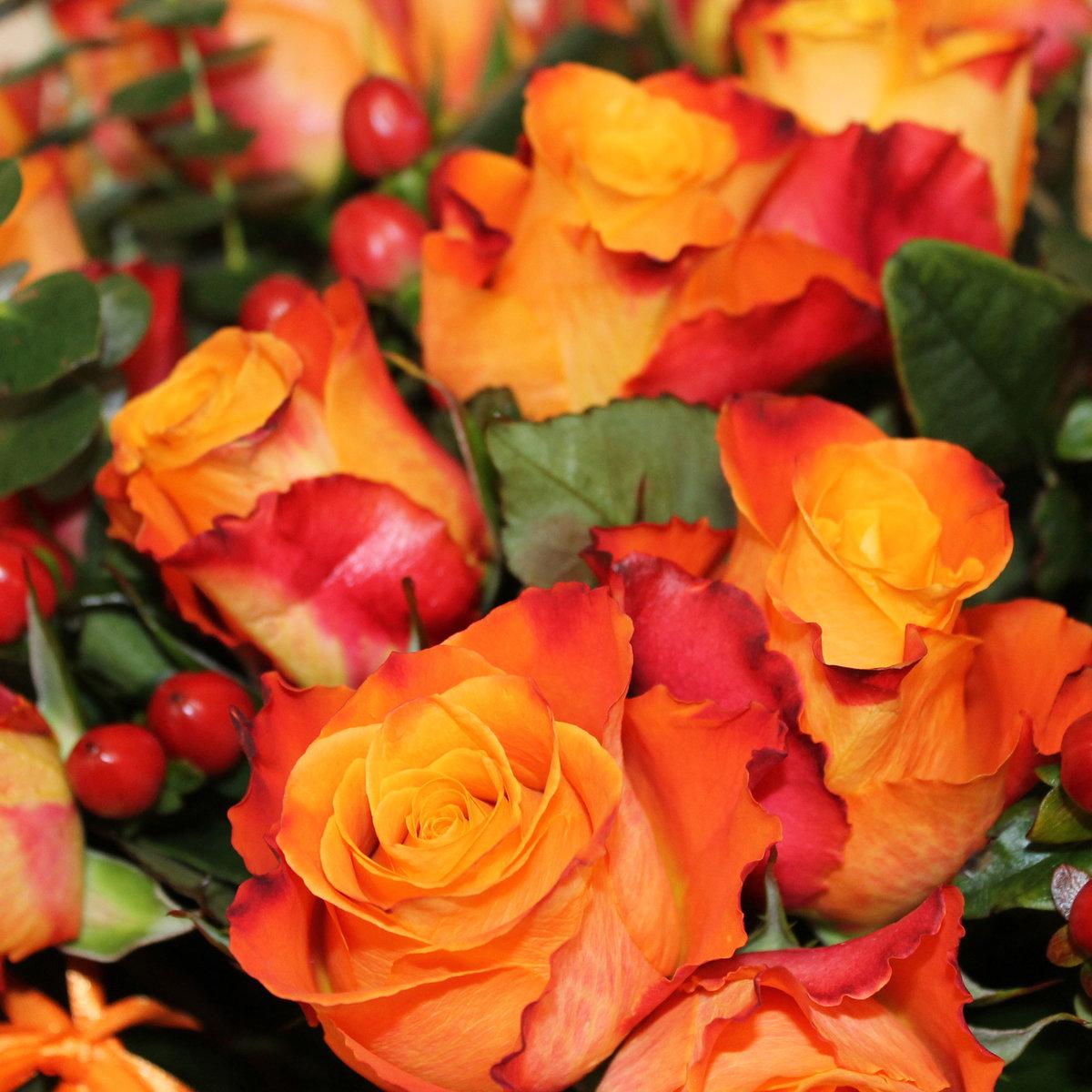 Оранжевые цветы в букетов названия с картинками