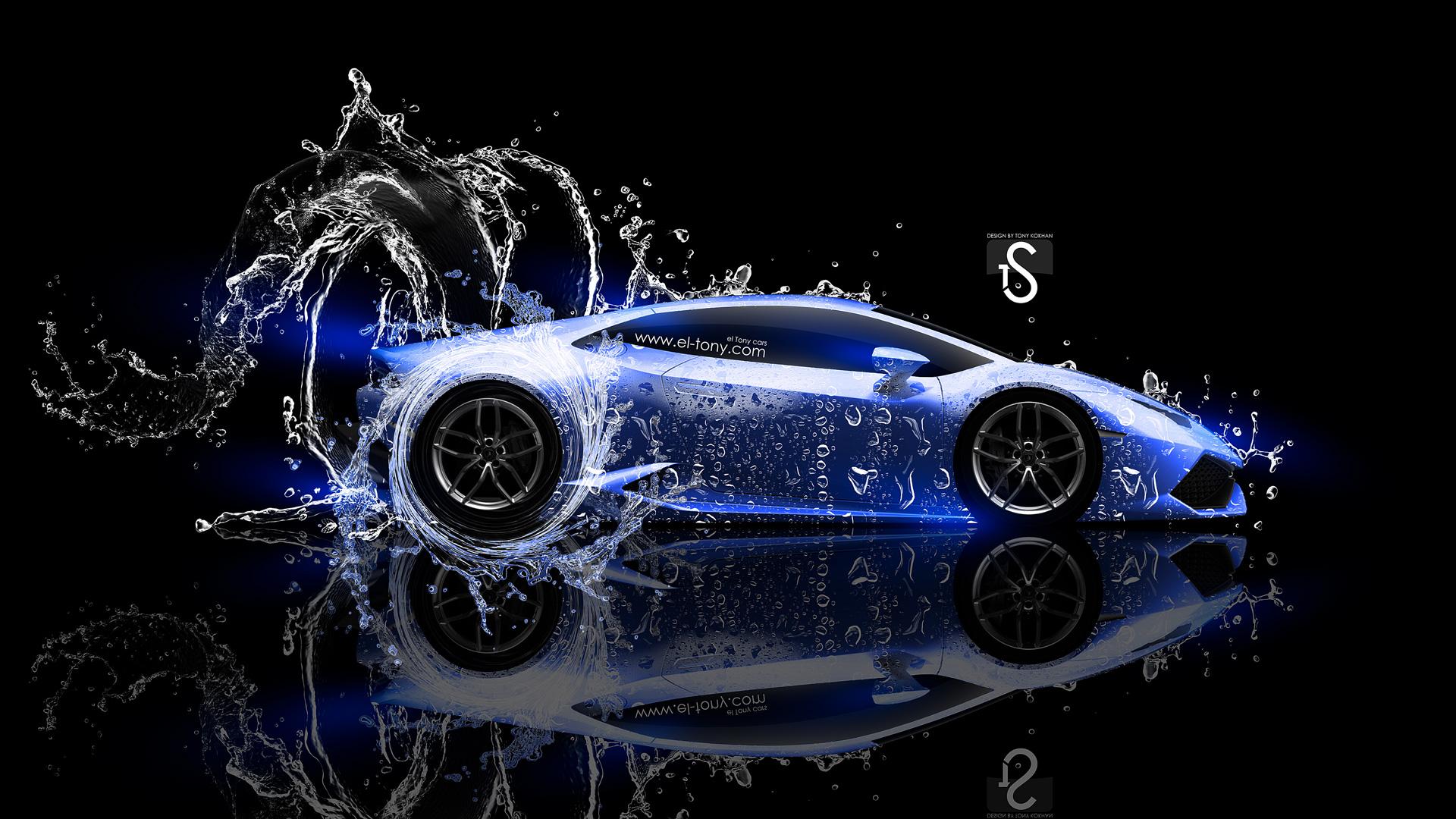 Lamborghini Huracan LP610 4 Super Water Car 2014 Blue Neon HD Wallpapers By Tony Kokhan El