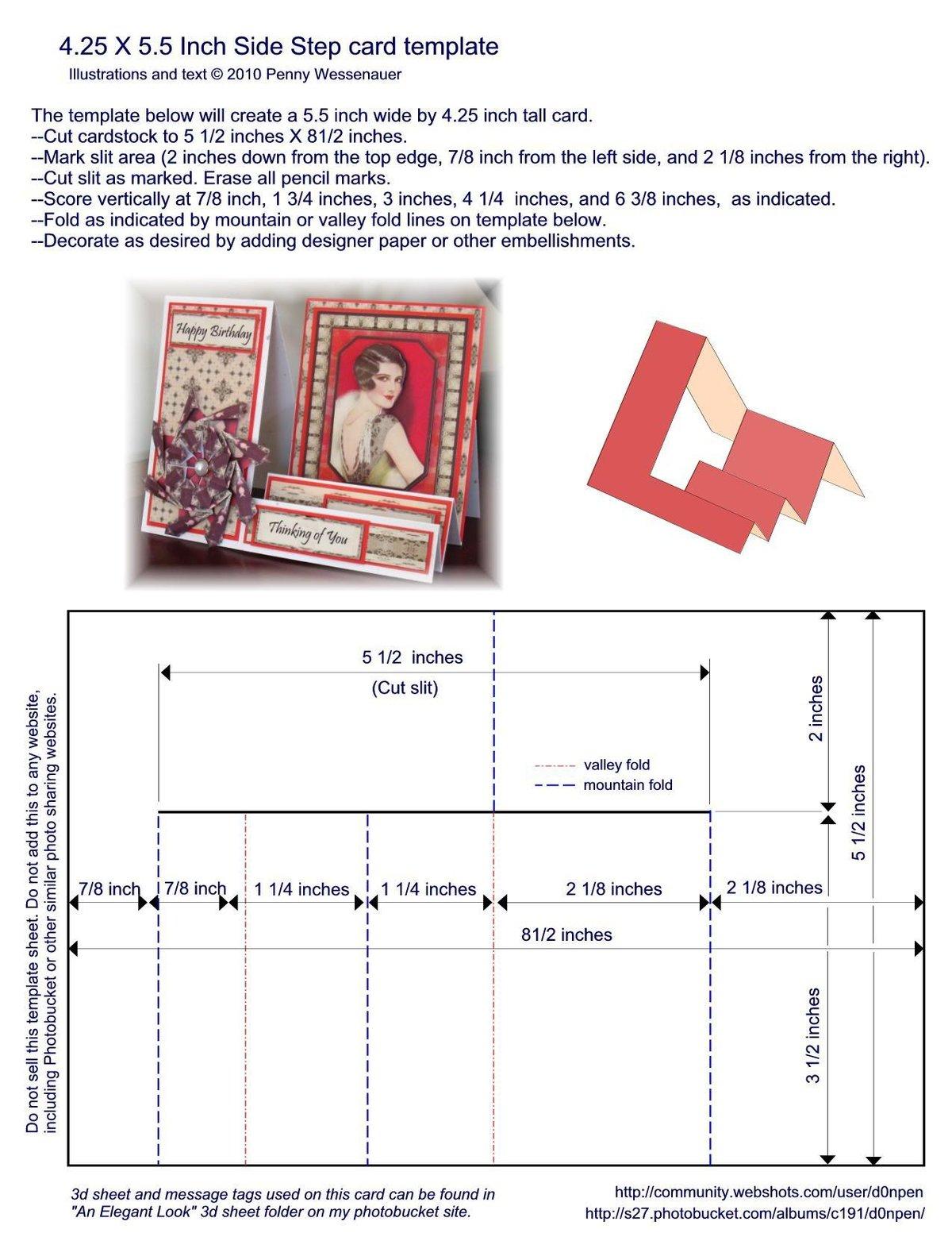 Летние, шаблоны сложных открыток для скрапбукинга